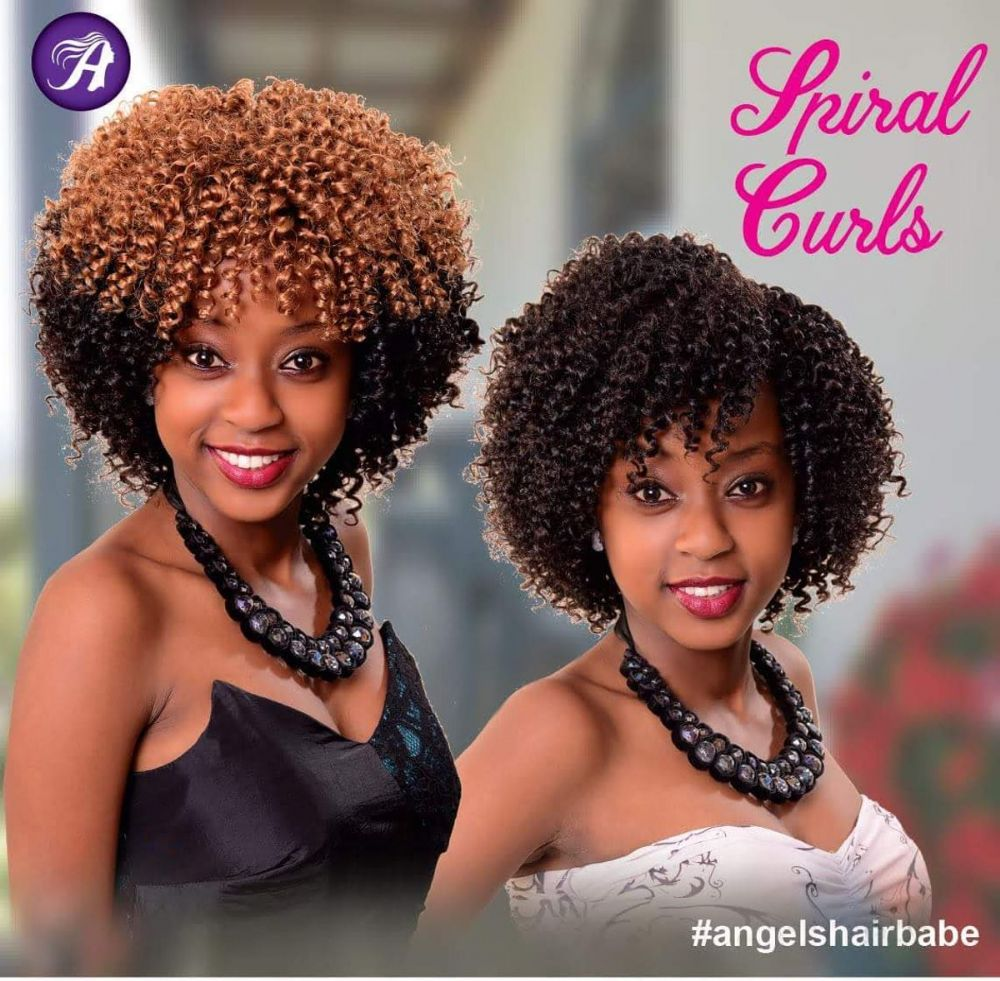Angels Spiral Curly Weave* 3 Pieces Set* Synthetic Hair Extensions